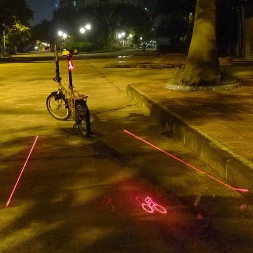 5 LED Bicycle Laser Taillight Bike Light 2 Laser Beams