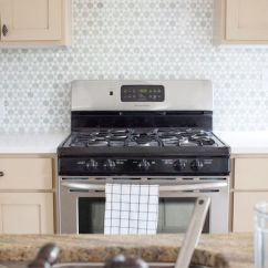 Tiny Kitchen Remodel Design A Sunflower Tile Ming Green Backsplash | The Lettered ...