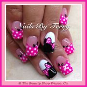 minnie gel nails character nail