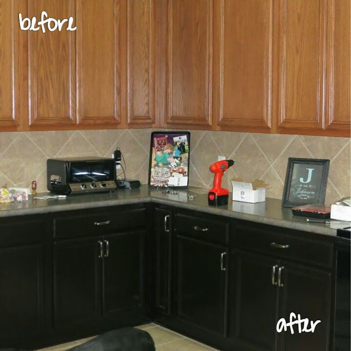 staining kitchen cabinets darker lg suite making our dream home – the ...