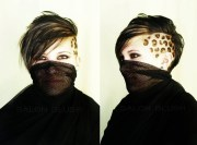 leopard print hair with feather