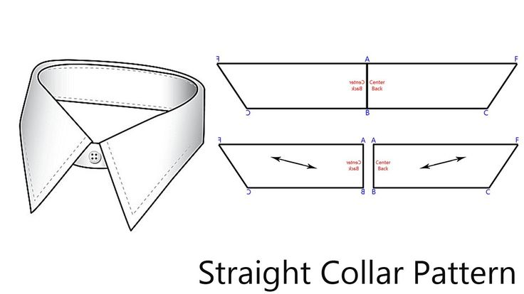 How To Pattern A Straight Collar. NOTE: B-C is half the
