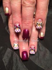 ideas owl nail art