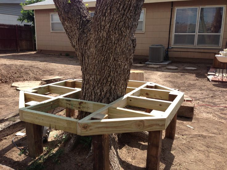 Diy Bench Around Tree Our Diy Projects That We Have