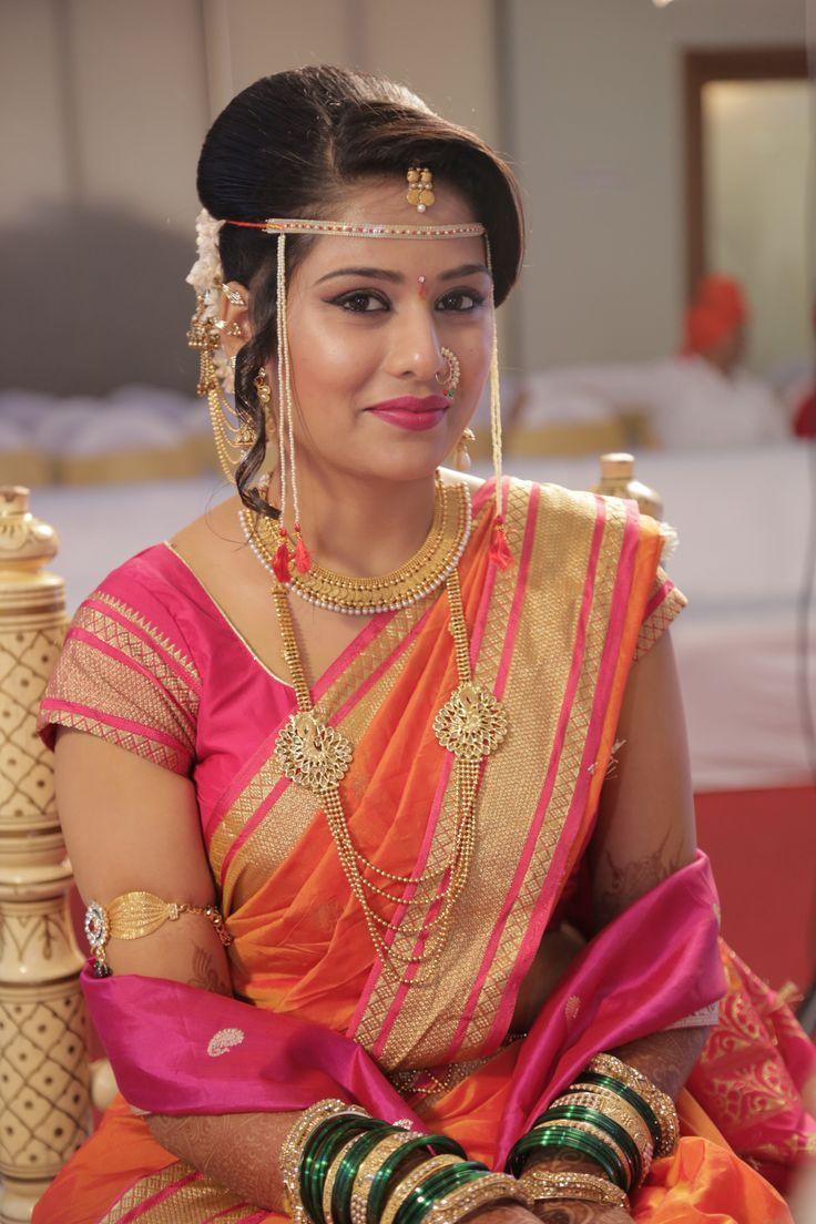 maharashtrian bride  maharashtrian bride  Pinterest  Brides Love the and Saree