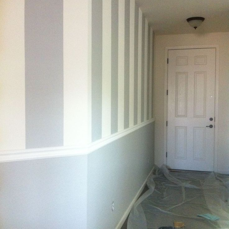 Vertical stripes  chair rail  COLORSPAINT  Pinterest  Foyers Chairs and Stripes