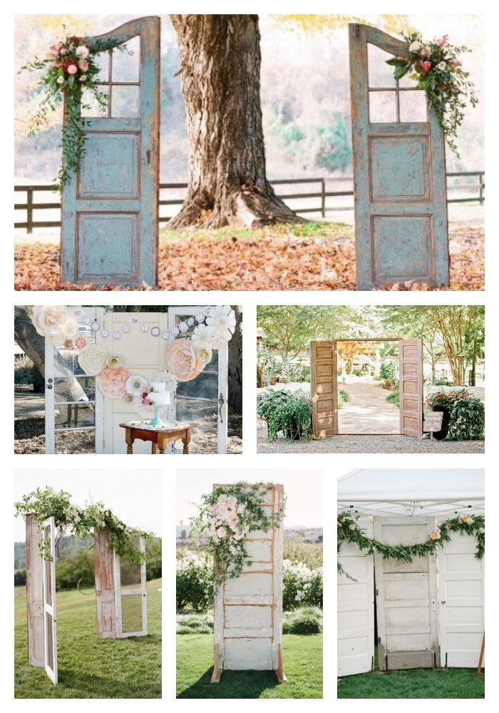 10 best ideas about Old Doors Wedding on Pinterest  Outdoor wedding doors Wedding doors and