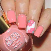 coral nail design ideas