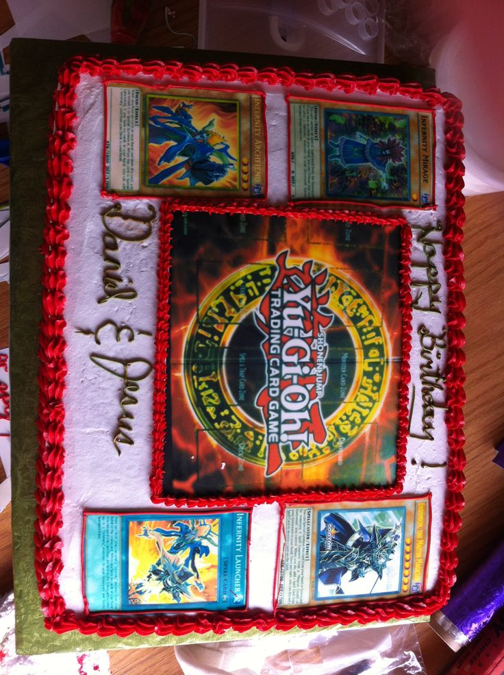 Yu Gi Oh Cake May Use For My Boys Birthdays Pinterest