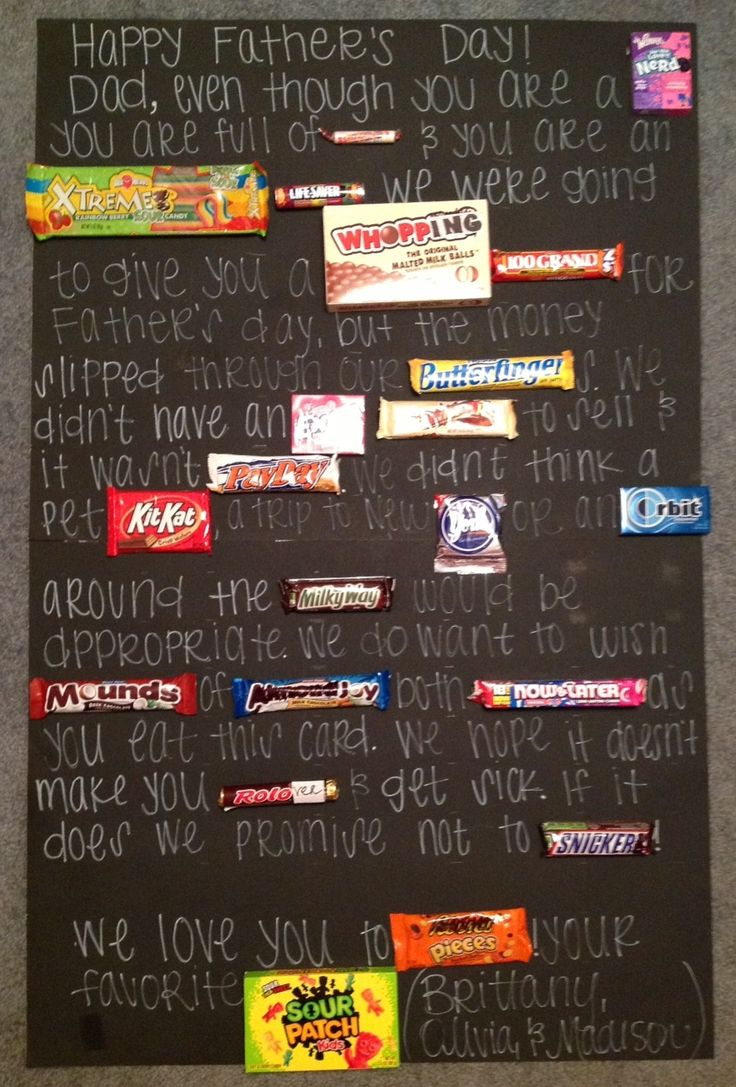 Father's Day Candy Card Done And Done Pinterest 2