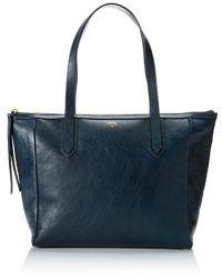 Fossil Sydney Shopper Shoulder Handbag, Heritage Blue ...