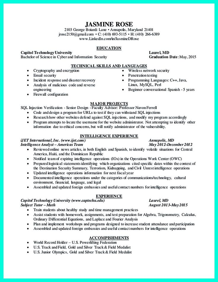 2695 best images about Resume Sample Template And Format on Pinterest  Business intelligence