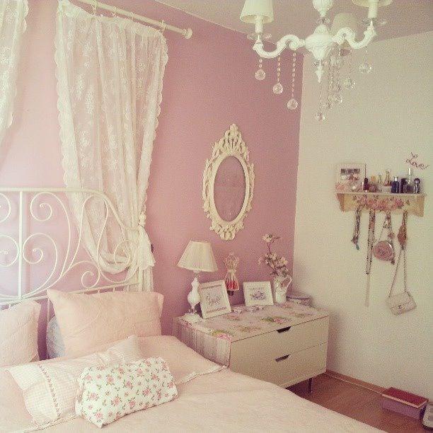 Kawaii pastel pink bedroom
