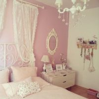 Kawaii pastel pink bedroom