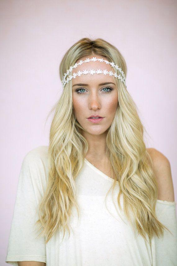 Daisy Chain Headband Flower Crown Wedding Hair Piece