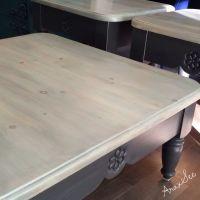 """Sandy Beach"" custom order coffee table set,chalk painted ..."