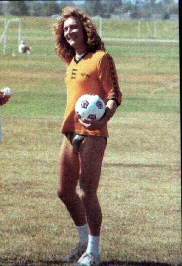 Robert Plant, a speedo and a soccer ball