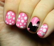 disney nail design short nails