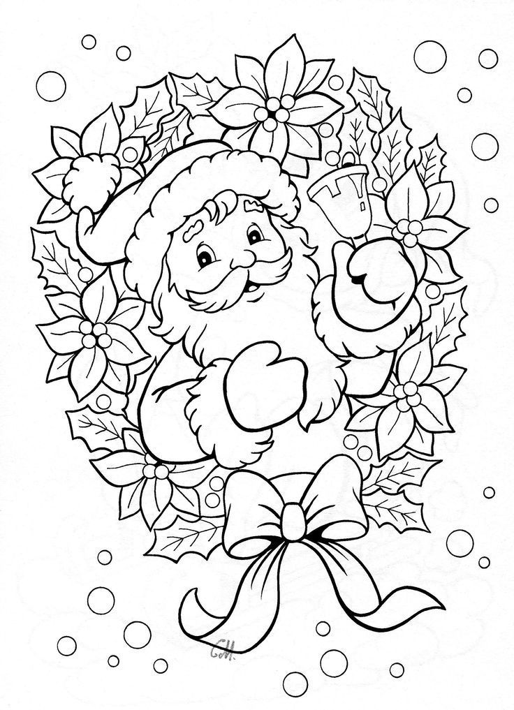 25+ best ideas about Santa coloring pages on Pinterest
