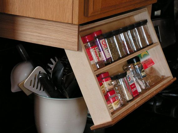 Diy Under Cabinet Spice Rack Woodworking Projects Plans