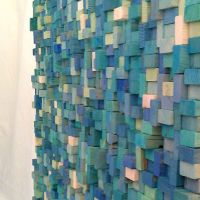 Wood block wall sculpture: Simple, creative, and can be ...