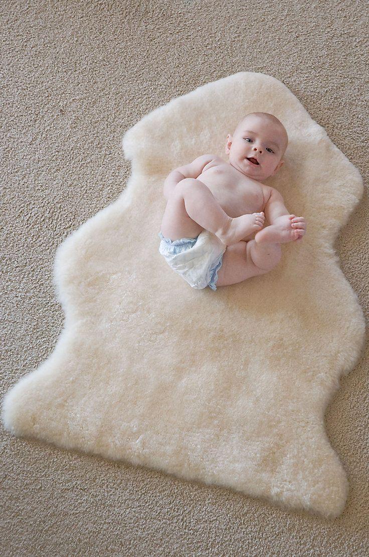 Overland Short Wool Sheepskin Baby Rug  Sheepskin Rugs