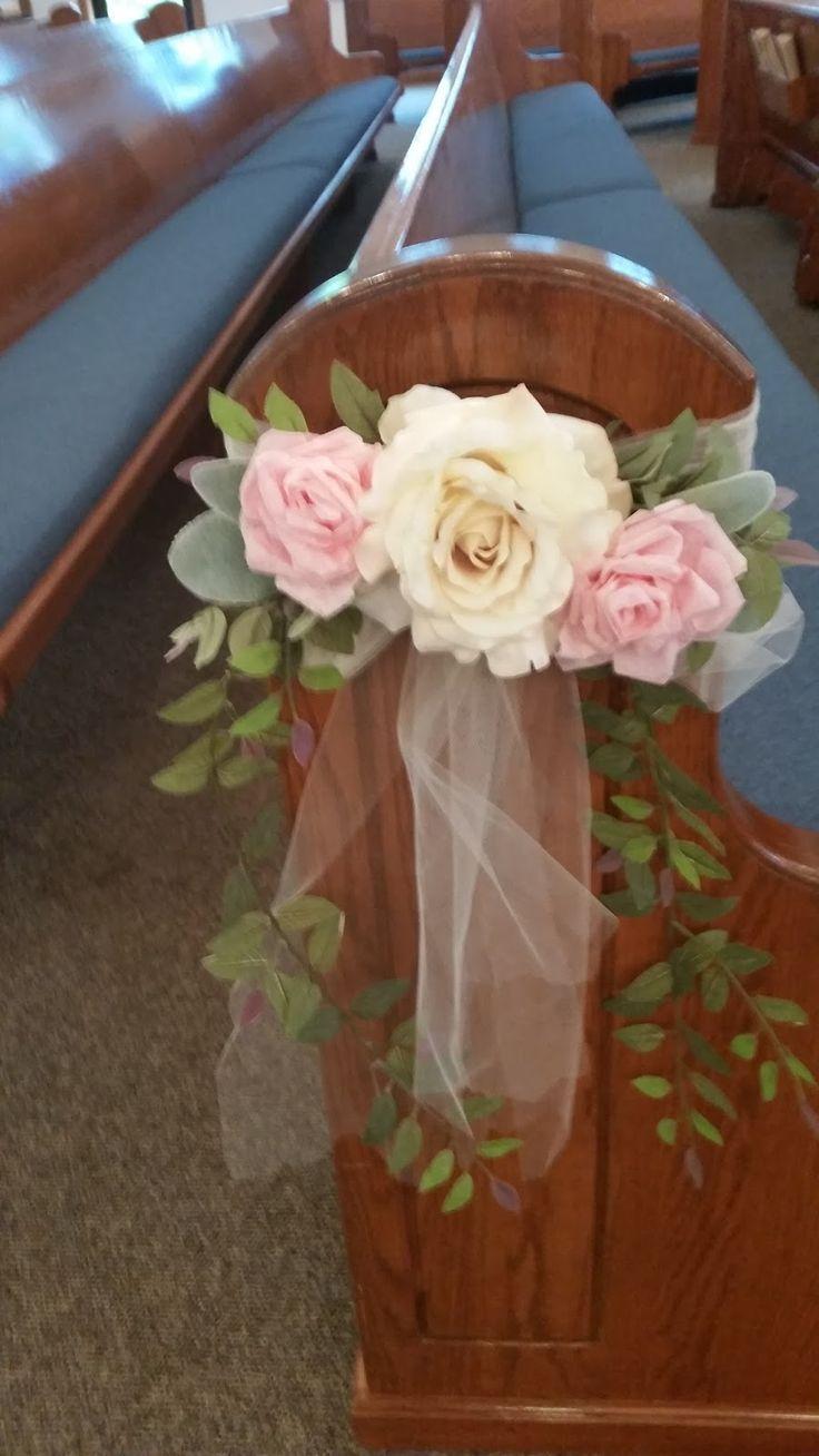 Best 20 Wedding pew decorations ideas on Pinterest