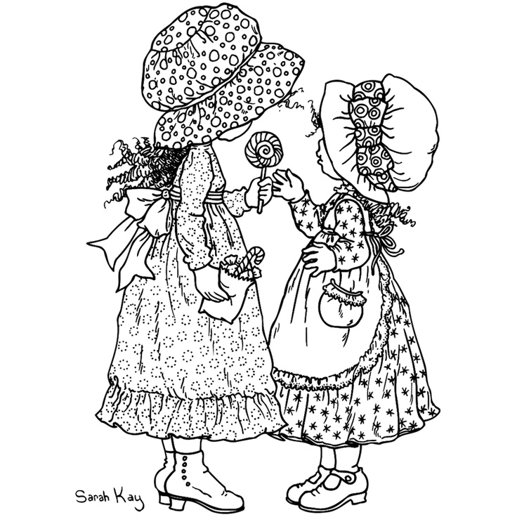98 best ideas about Holly Hobbie / Sarah Kay Colouring