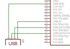 Pinout image of usb wiring ipod dock  connector diagrams