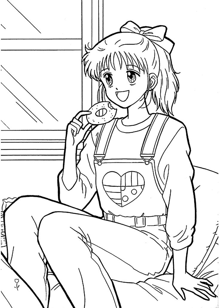 Miki from Marmalade boy coloring pages for kids, printable