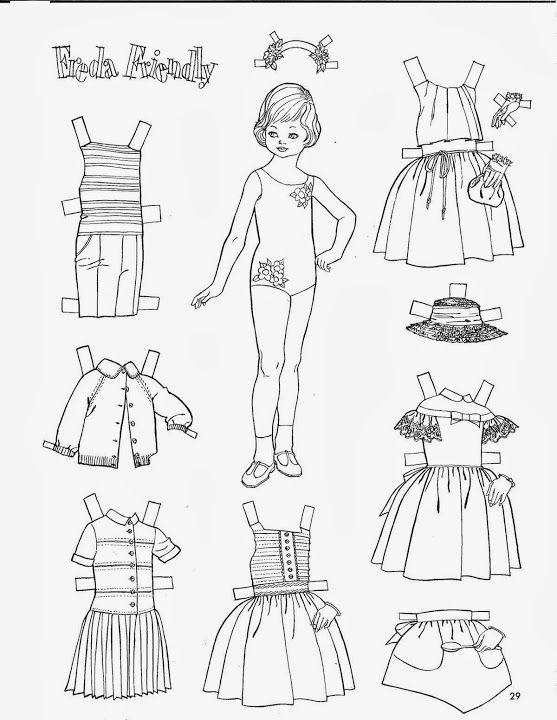 1057 best images about Paper Doll: Black and White on