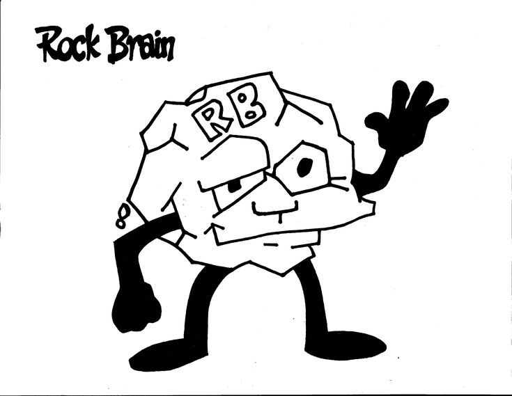 Rock Brain Coloring Page. Team Unthinkables. Superflex
