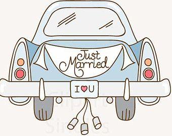malvorlagen auto von hinten just married  Malvorlagencr