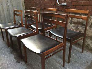 mid century sofas toronto maroon sofa decorating ideas 6 danish rosewood dining chairs (mid modern / not ...