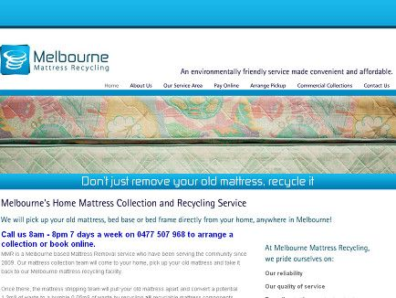 Melbourne Mattress Recycling Perform Collection Services We Will Come To Your Home Or Business
