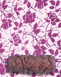 Pattern Paint Roller in Sweet Sea Roses Design by ...
