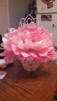 Princess themed centerpieces for our baby shower. | Tutu ...