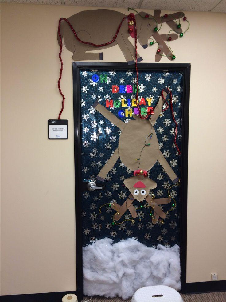 Work Door Decorating Ideas Christmas
