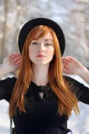 red hair redhead head