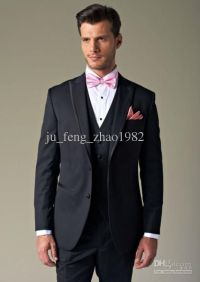 black suit pink bow tie | Mens Tuxedos | Pinterest ...