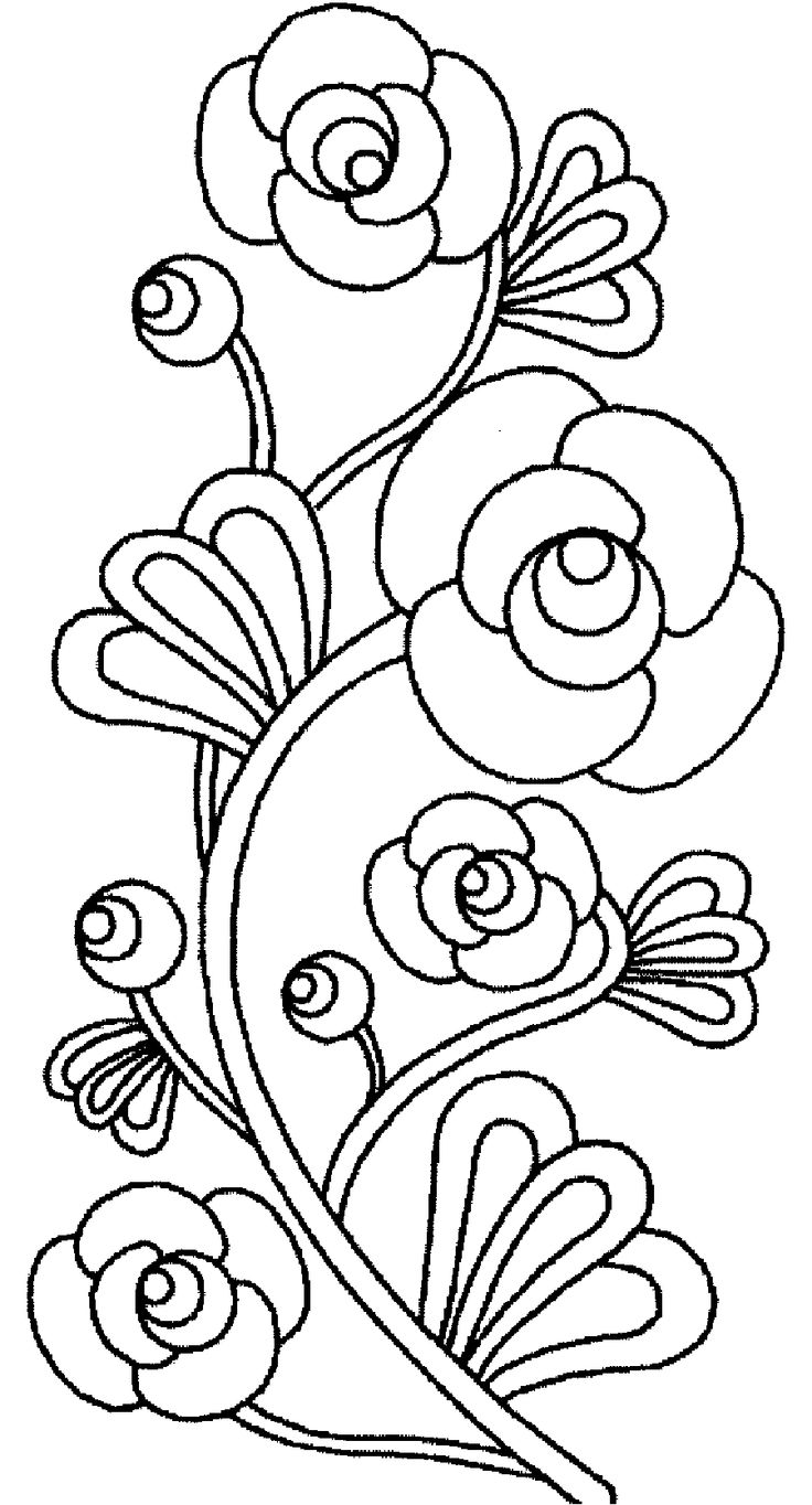 28 best images about flowers coloring pages on Pinterest