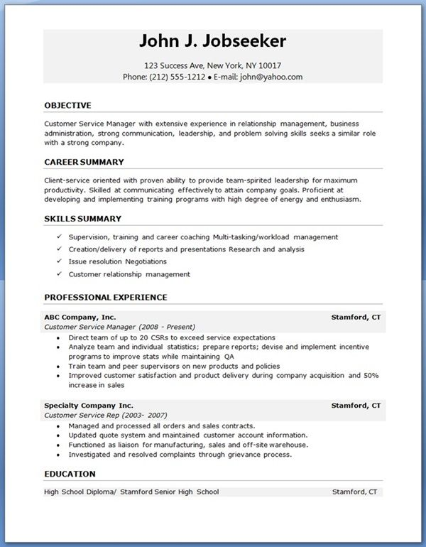 Attractive Free Job Resume Template Resume Templates And Resume Builder Photo Gallery