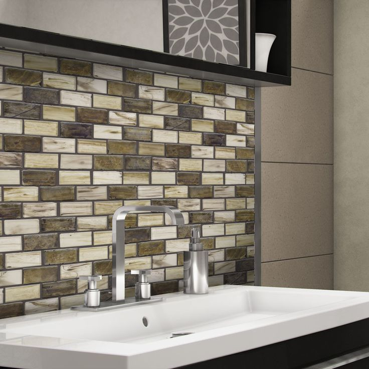 outdoor kitchen vent hood paints elida ceramica melted earth brick mosaic glass wall tile ...