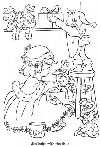 17 Best images about Coloring-Little Miss Christmas on