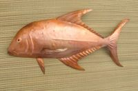 """Copper fish wall art - """"Papio"""" 