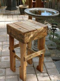 Best 25+ Pallet stool ideas on Pinterest | Pallet bar ...