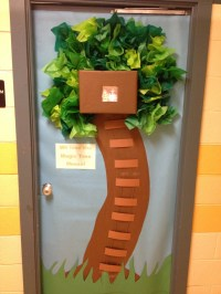 Awesome Magic Tree House door decoration