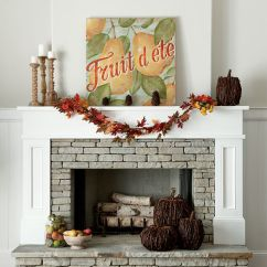 How To Decorate Oblong Living Room Colorful Furniture 25+ Best Ideas About Fall Fireplace Mantel On Pinterest ...