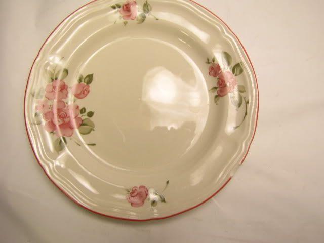 Vintage Gibson Housewares Pink Roses Plate My Dinnerware