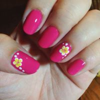 Tropical Flower Toe Nail Designs